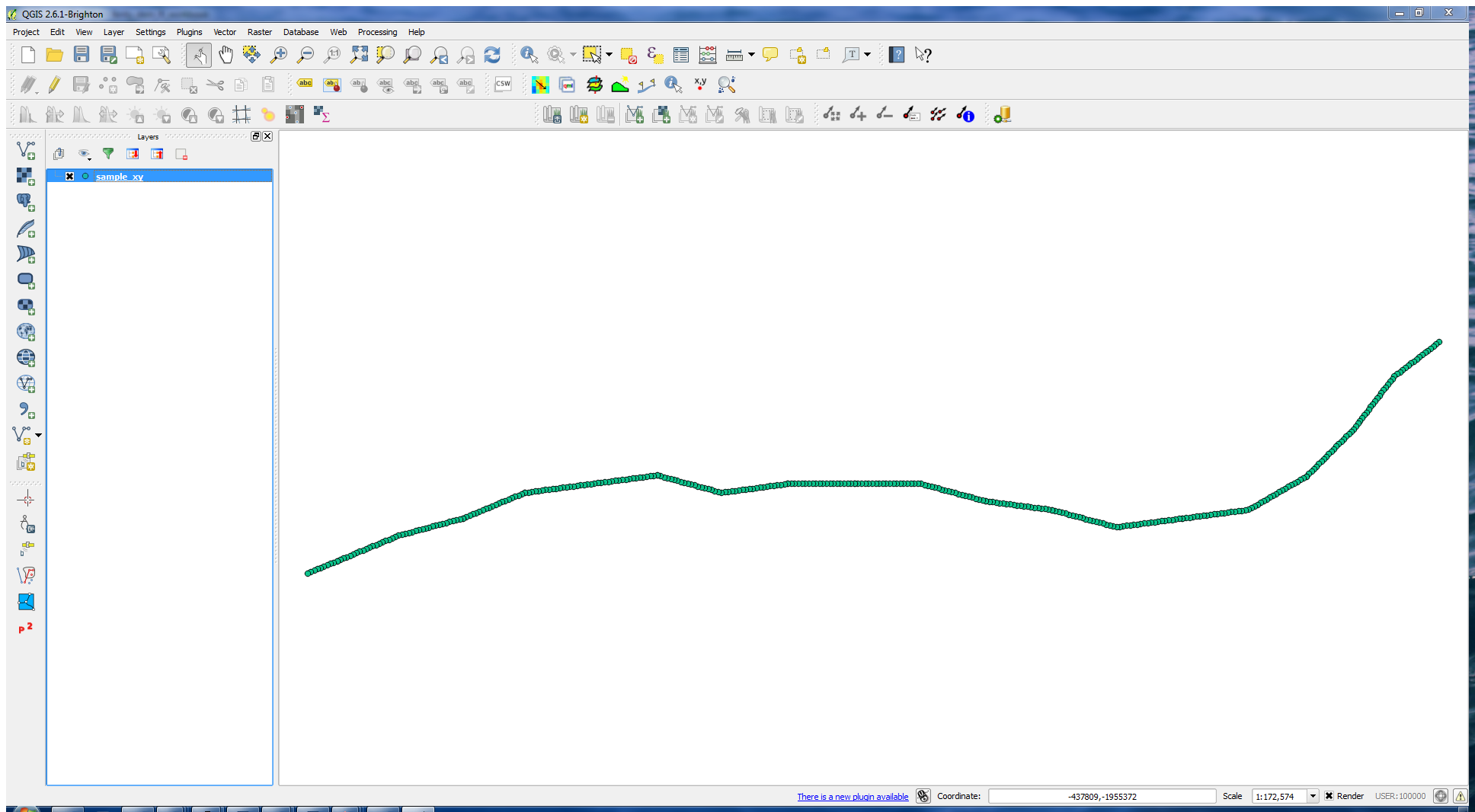sample_xy.shp in QGIS